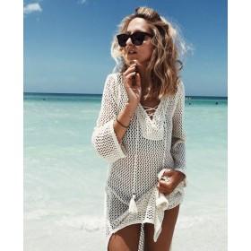 Туника пляжная со шнуровкой