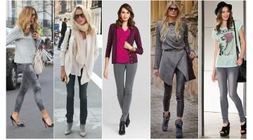 Серые джинсы: с чем носить.